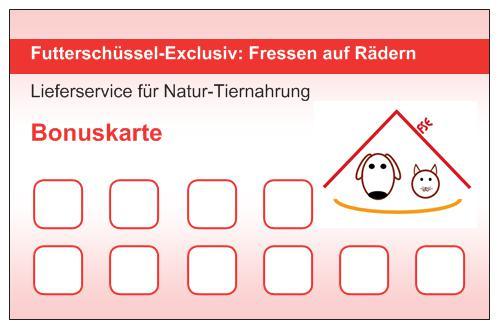 Bonuskarte Futterschüssel-Exclusiv
