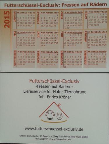 Futterschüssel-Exclusiv Taschenkalender 2015